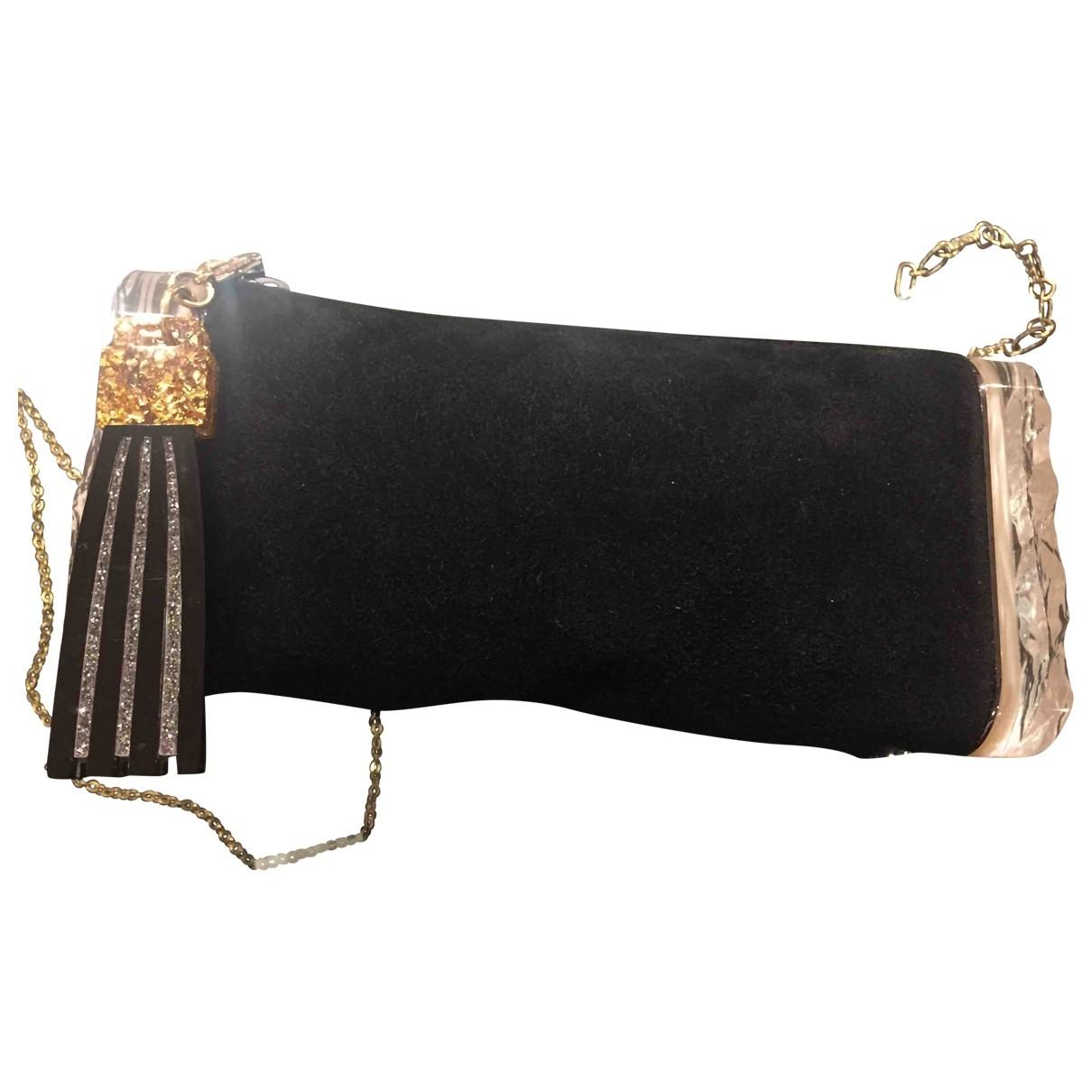 Edie Parker \N Black Velvet Clutch bag for Women \N