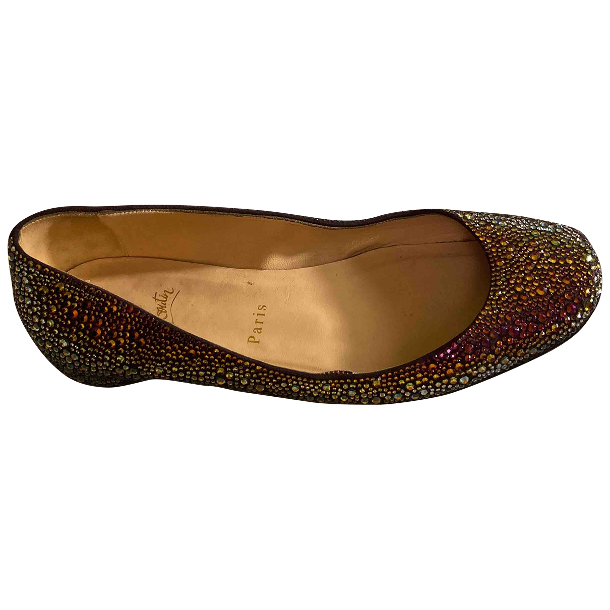 Christian Louboutin \N Multicolour Glitter Ballet flats for Women 39 EU