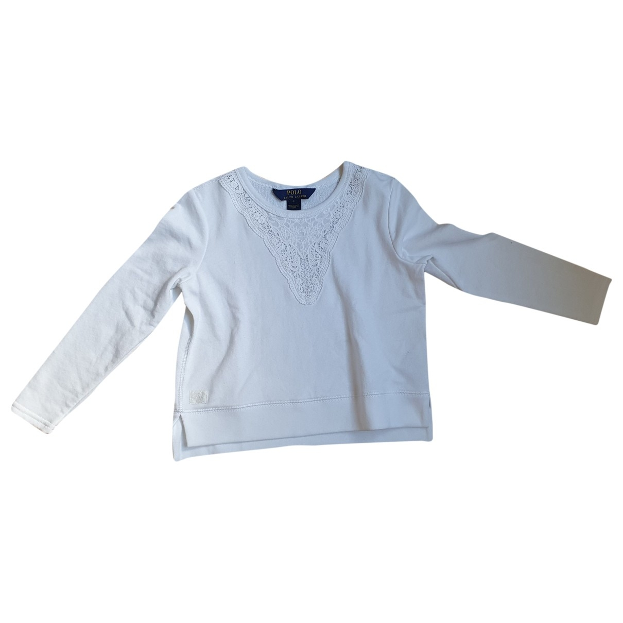 Polo Ralph Lauren \N Pullover, StrickJacke in  Weiss Baumwolle