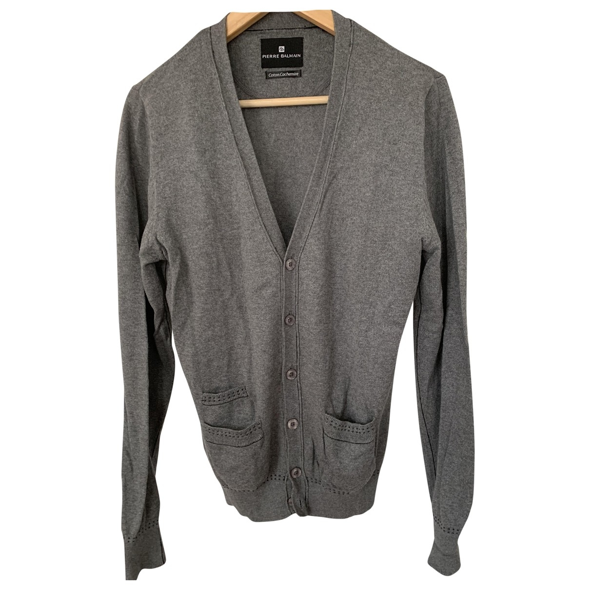 Pierre Balmain \N Pullover.Westen.Sweatshirts  in  Grau Baumwolle