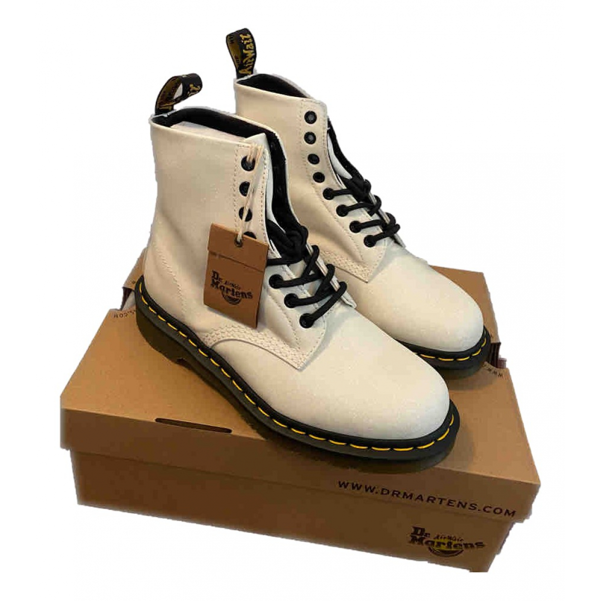 Dr. Martens N White Leather Ankle boots for Women 5 UK