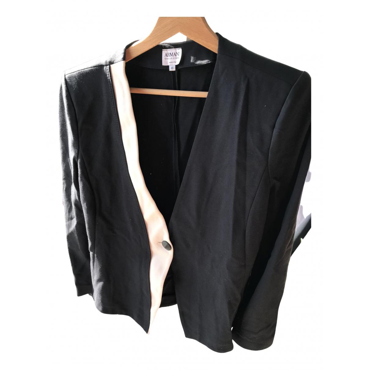 Armani Collezioni - Veste   pour femme en coton - noir