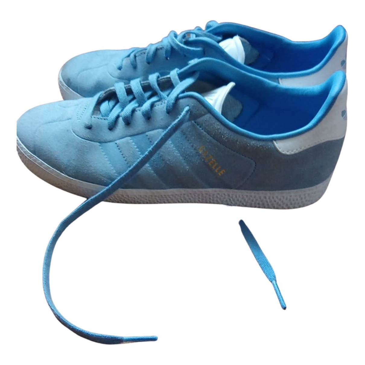 Adidas Gazelle Blue Suede Trainers for Women 38.5 EU