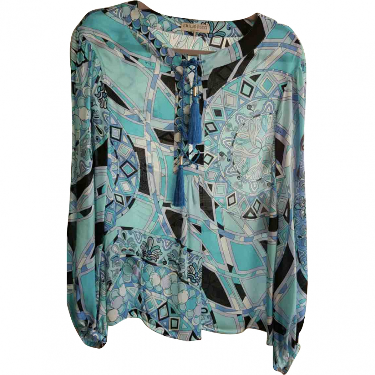 Emilio Pucci \N Blue Silk  top for Women 40 IT