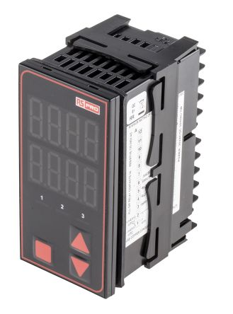 RS PRO Panel Mount PID Temperature Controller, 48 x 48mm, 2 Output Relay, SSR, 110  240 V ac Supply Voltage