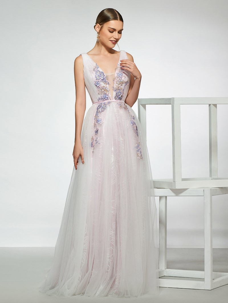 Ericdress Appliques Lace Outdoor Wedding Dress