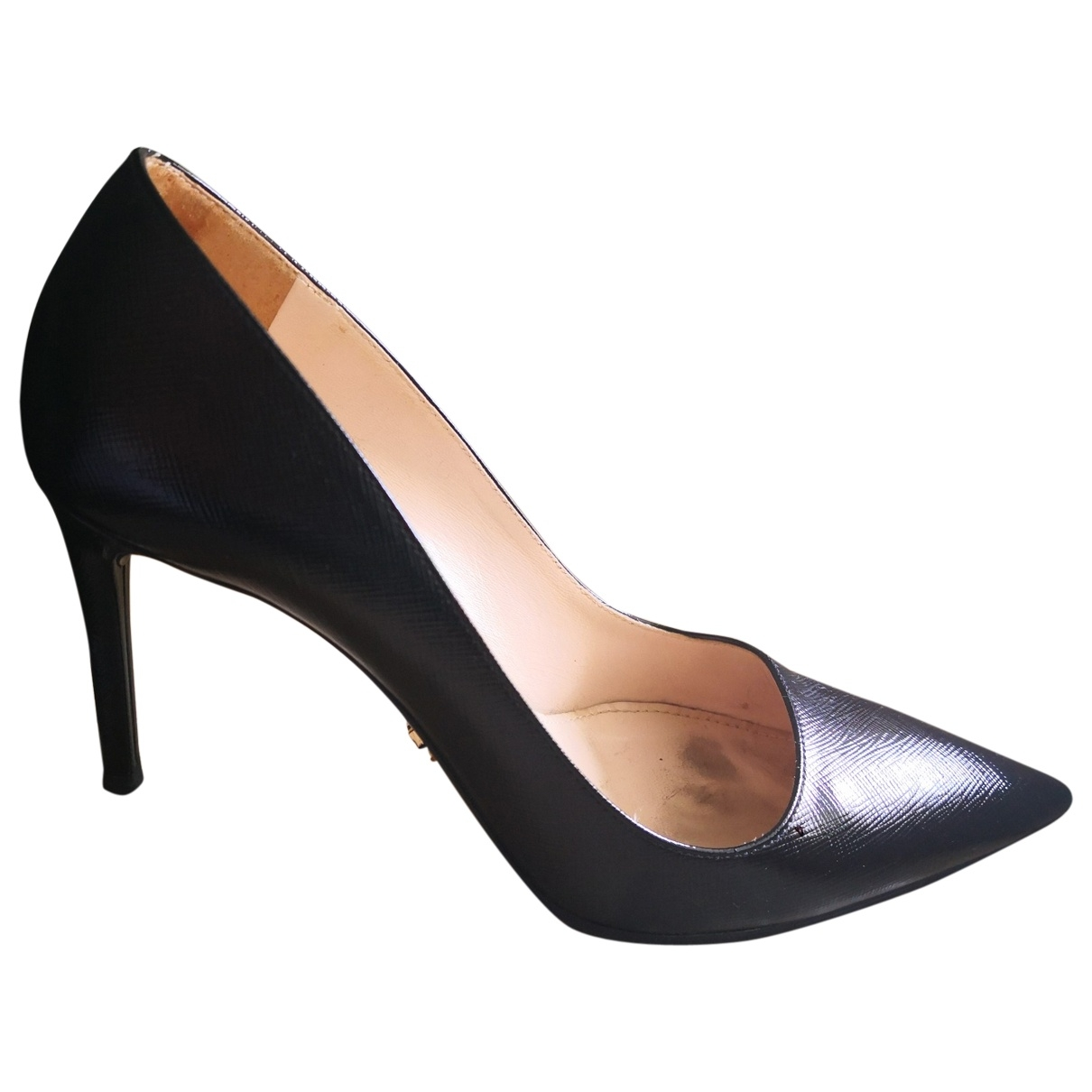 Prada \N Black Leather Heels for Women 36.5 EU