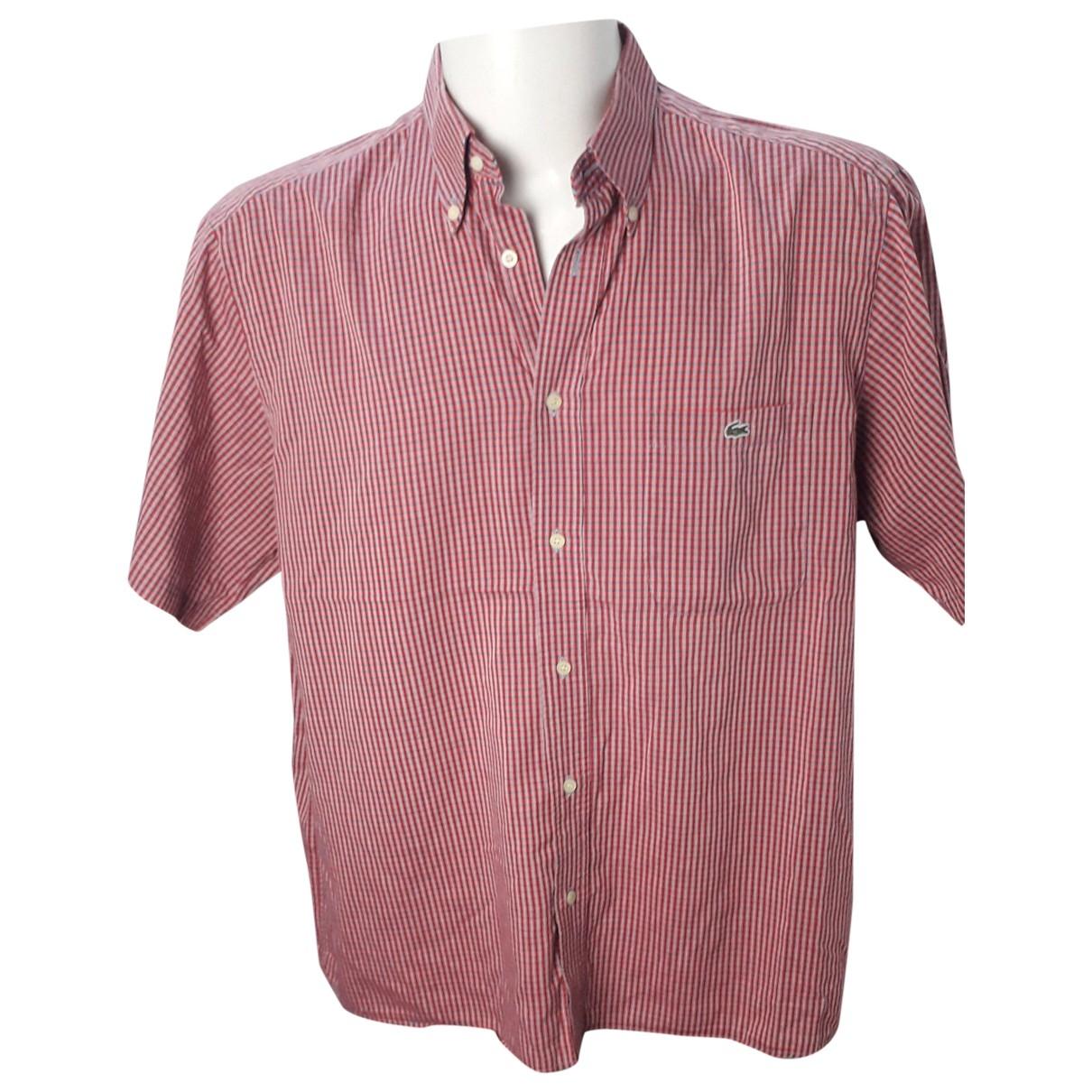 Lacoste \N Hemden in  Rot Baumwolle