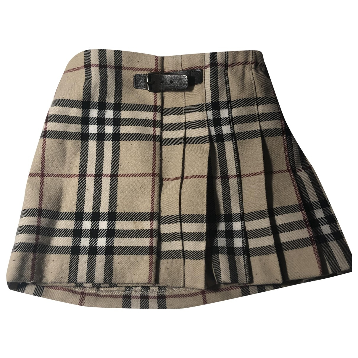 Burberry \N Beige Wool skirt for Kids 18 months - up to 81cm FR