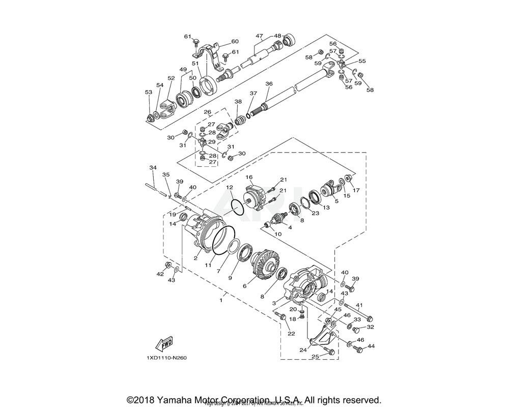 Yamaha OEM 3B4-47359-00-00 WASHER
