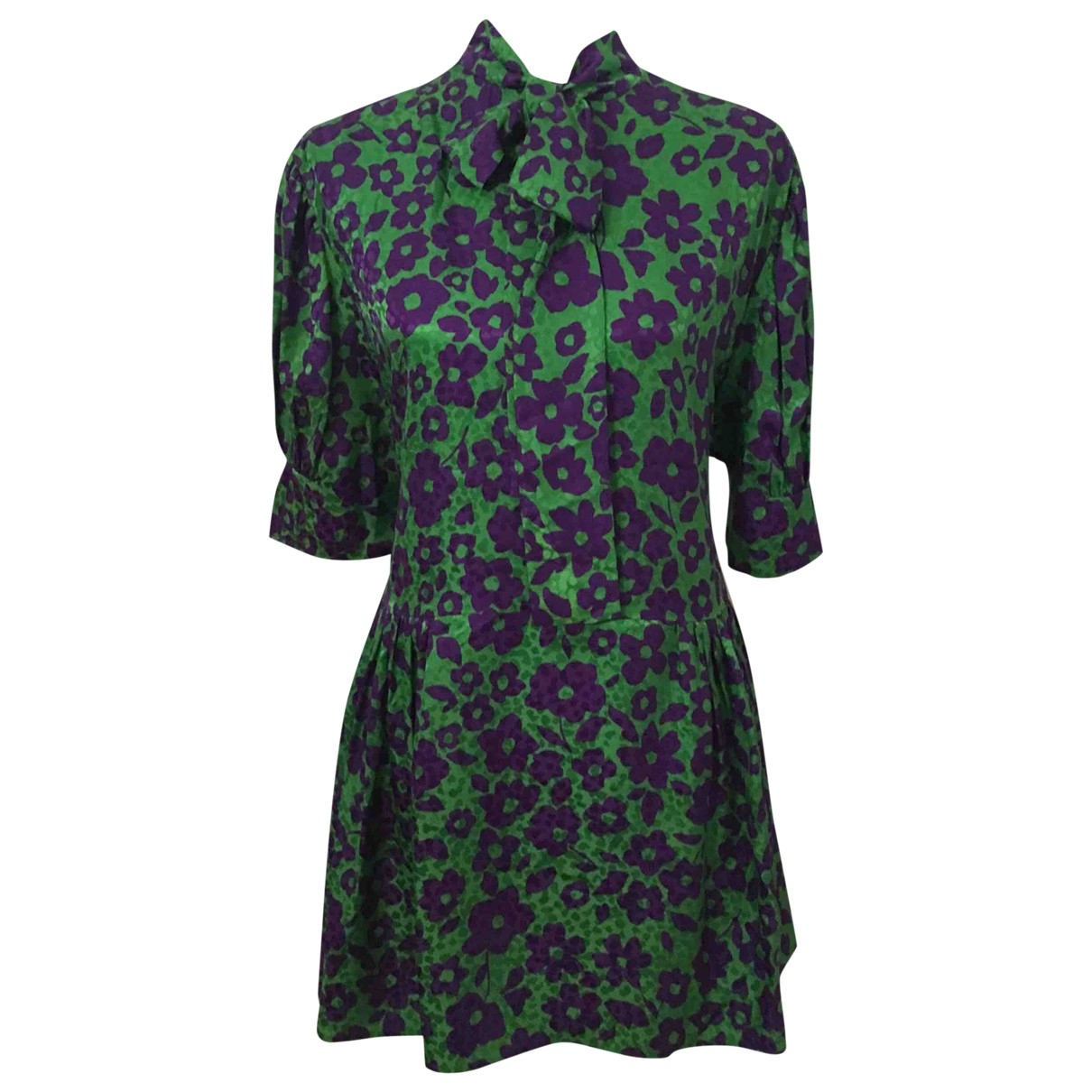 Miu Miu - Robe   pour femme en soie - vert