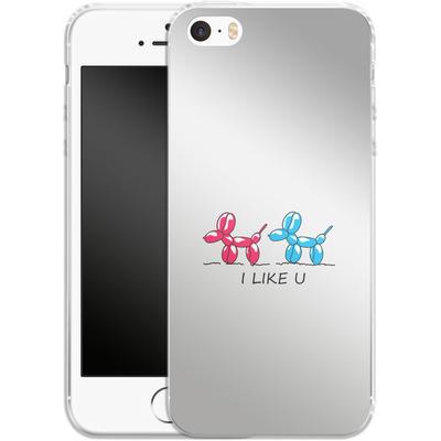 Apple iPhone 5 Silikon Handyhuelle - I Like U von Mark Ashkenazi