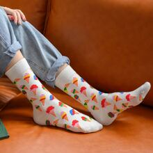 1pair Ice Cream Graphic Socks