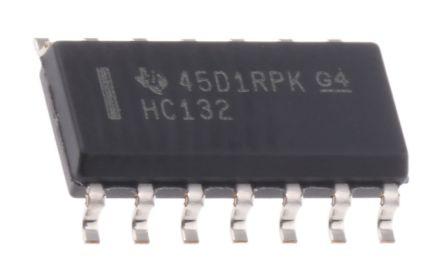 Texas Instruments SN74HC132D, Quad 2-Input NAND Schmitt Trigger Logic Gate, 14-Pin SOIC (50)
