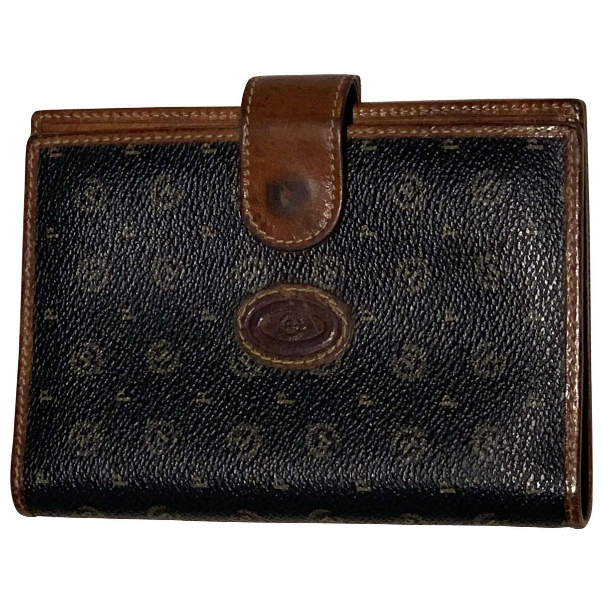 Pollini \N Brown Leather Purses, wallet & cases for Women \N