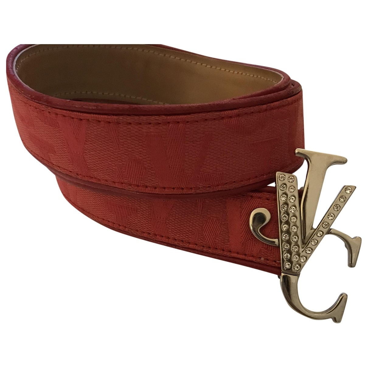 Versace Jeans \N Red Cotton belt for Women 85 cm