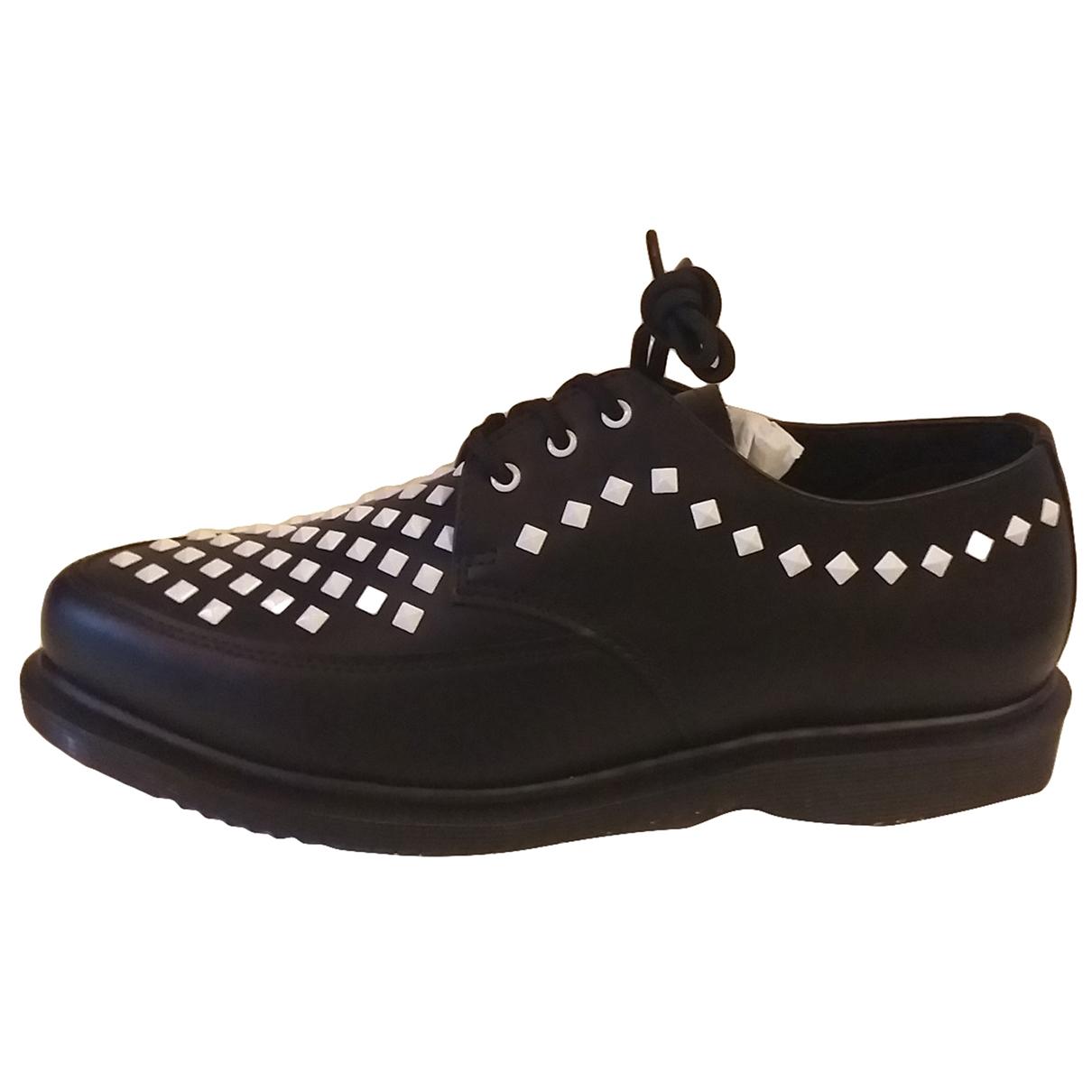 Dr. Martens \N Black Leather Flats for Women 38 EU