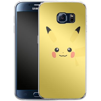 Samsung Galaxy S6 Silikon Handyhuelle - Pikachu by Lucian Foehr von Lucian Foehr