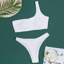 Bikini Badeanzug mit einer Schulter