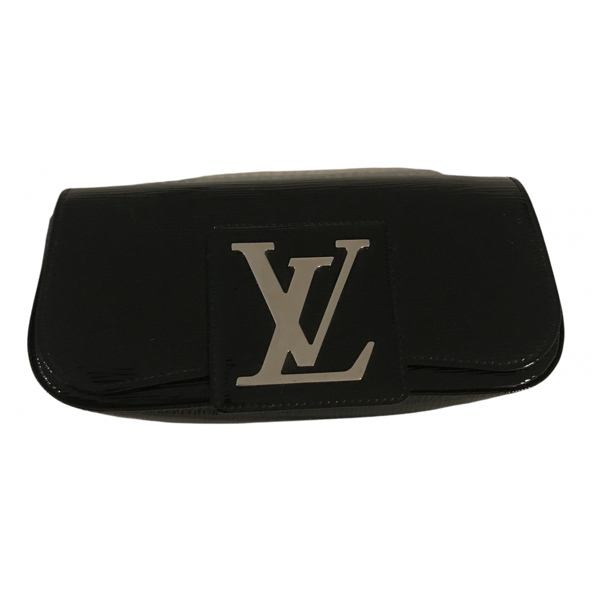 Louis Vuitton Sobe Clutch in  Schwarz Lackleder