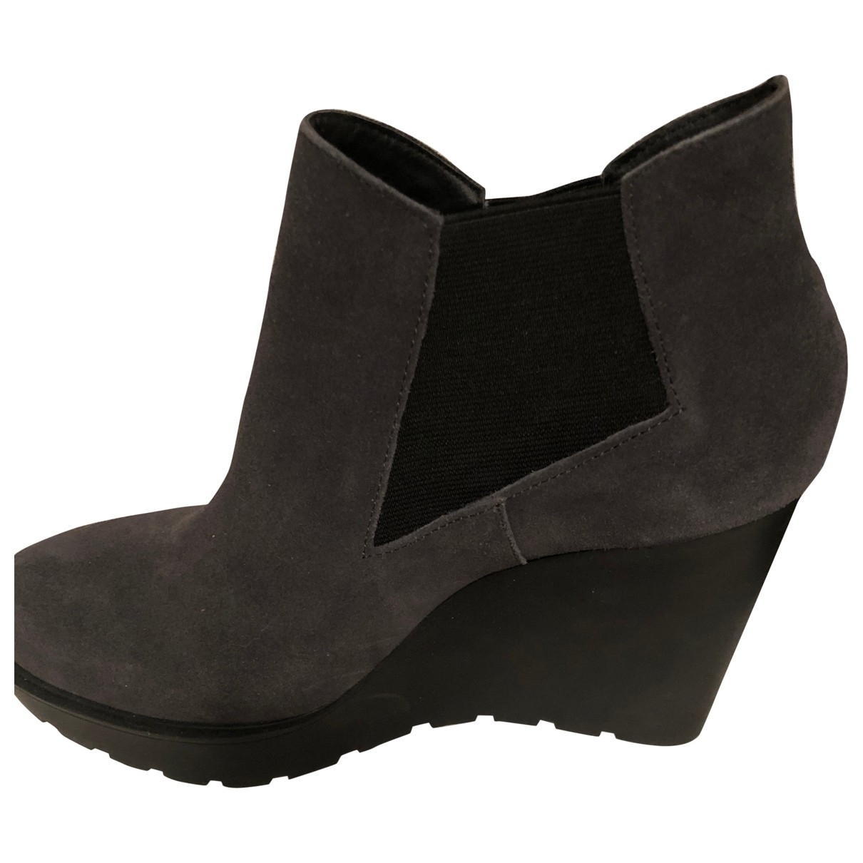 Calvin Klein \N Grey Suede Ankle boots for Women 40 EU