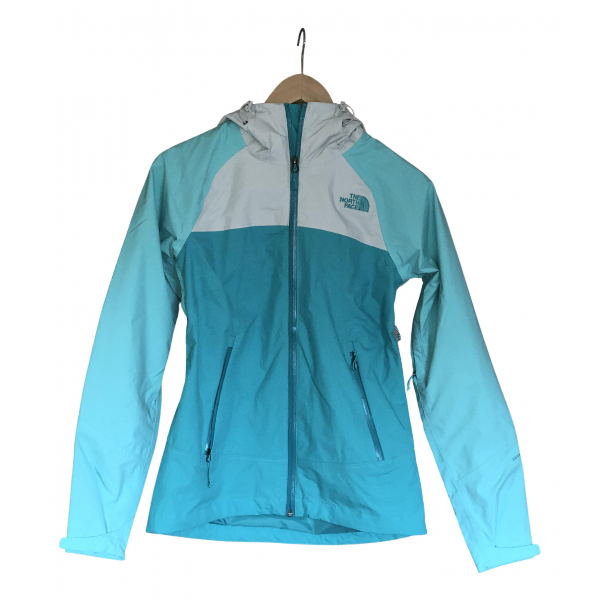 The North Face N Turquoise Leather jacket for Women XS International