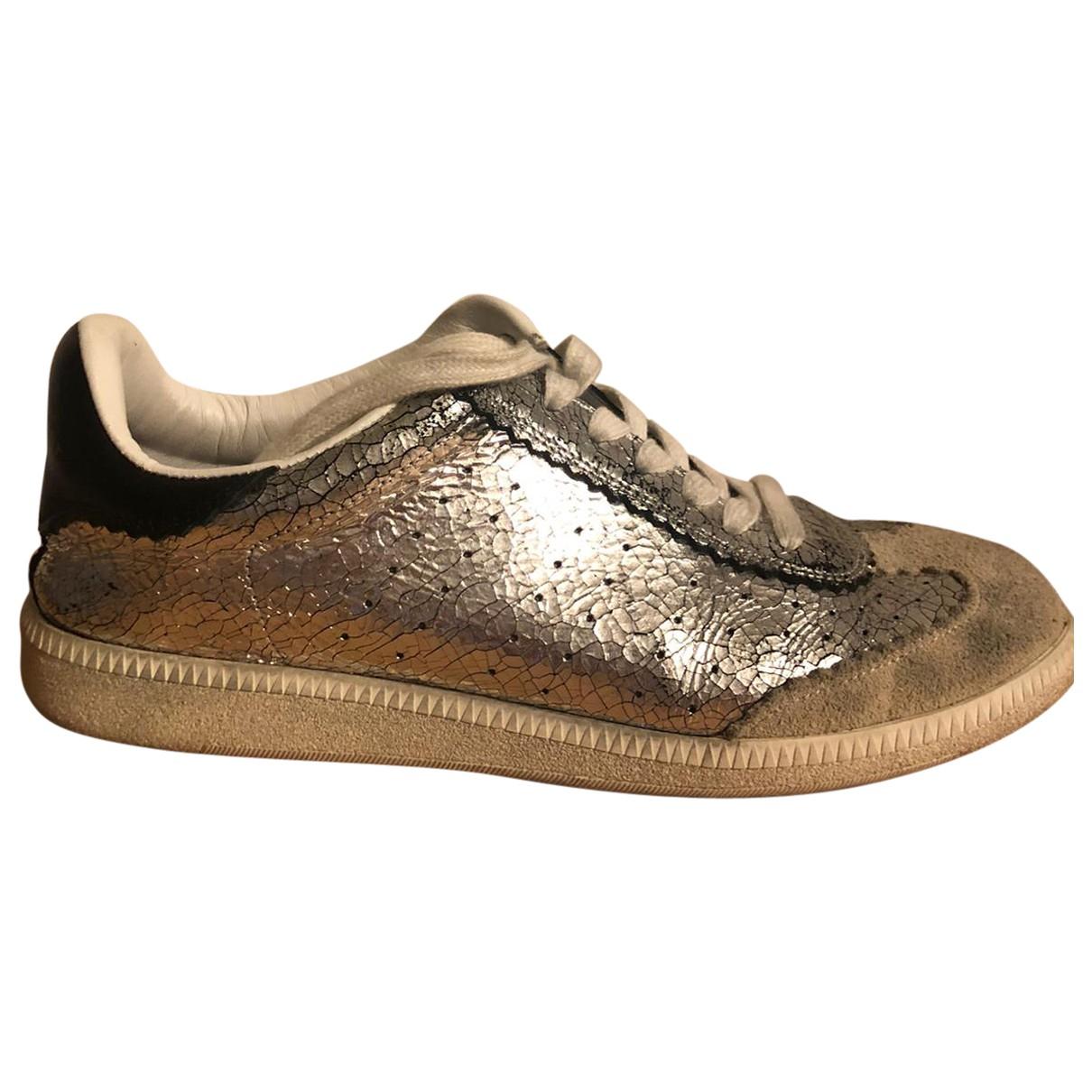 Isabel Marant Bryce Sneakers in  Metallic Leder
