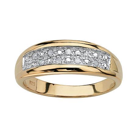 2MM 1/8 CT. T.W. Genuine White Diamond 18K Gold Over Silver Band, 8 , No Color Family