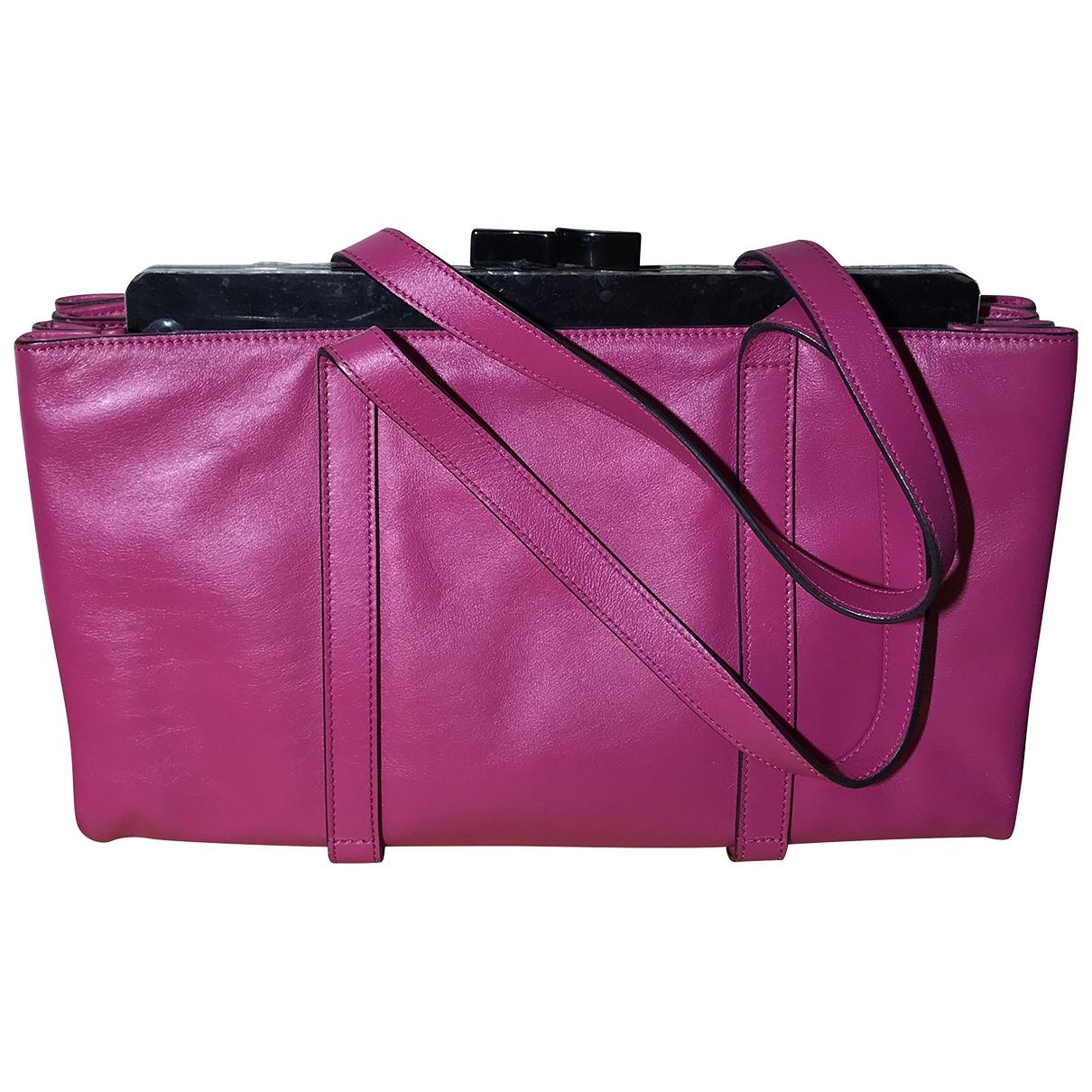 Giorgio Armani - Sac a main   pour femme en cuir - rose