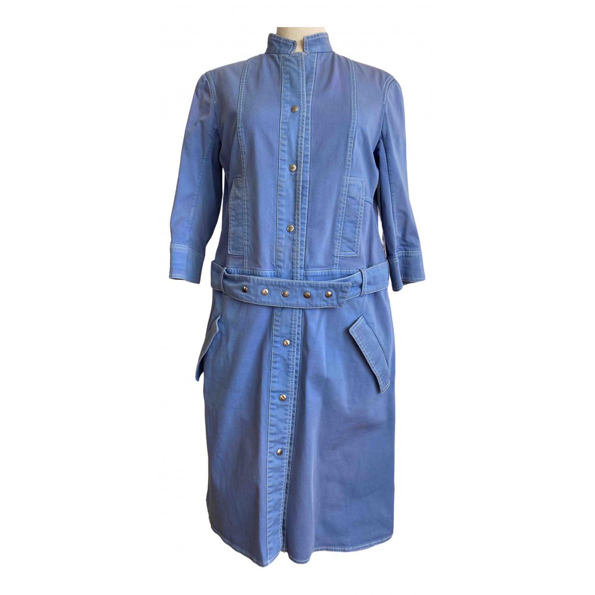 Jil Sander \N Kleid in  Blau Baumwolle - Elasthan