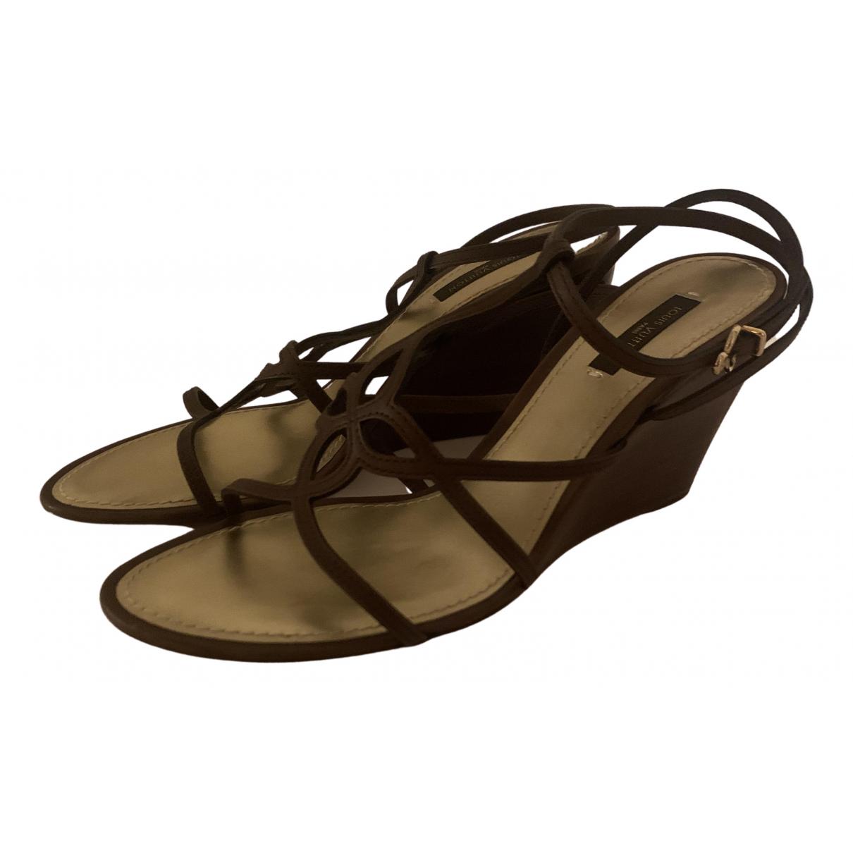 Louis Vuitton N Brown Leather Heels for Women 38 EU
