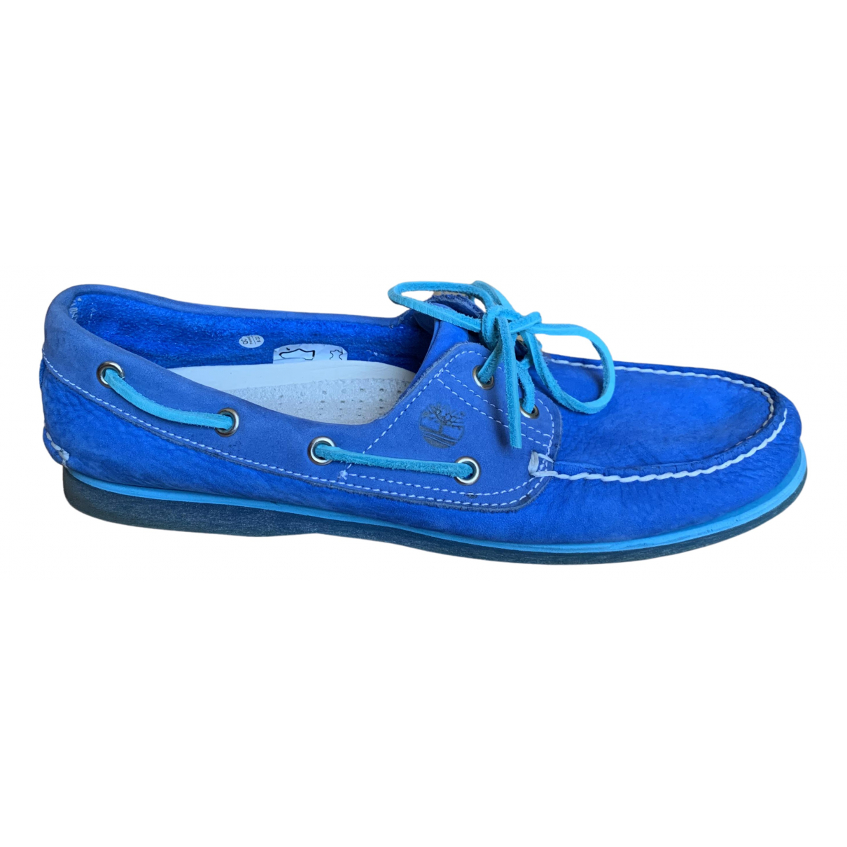 Timberland N Blue Leather Flats for Men 9 US