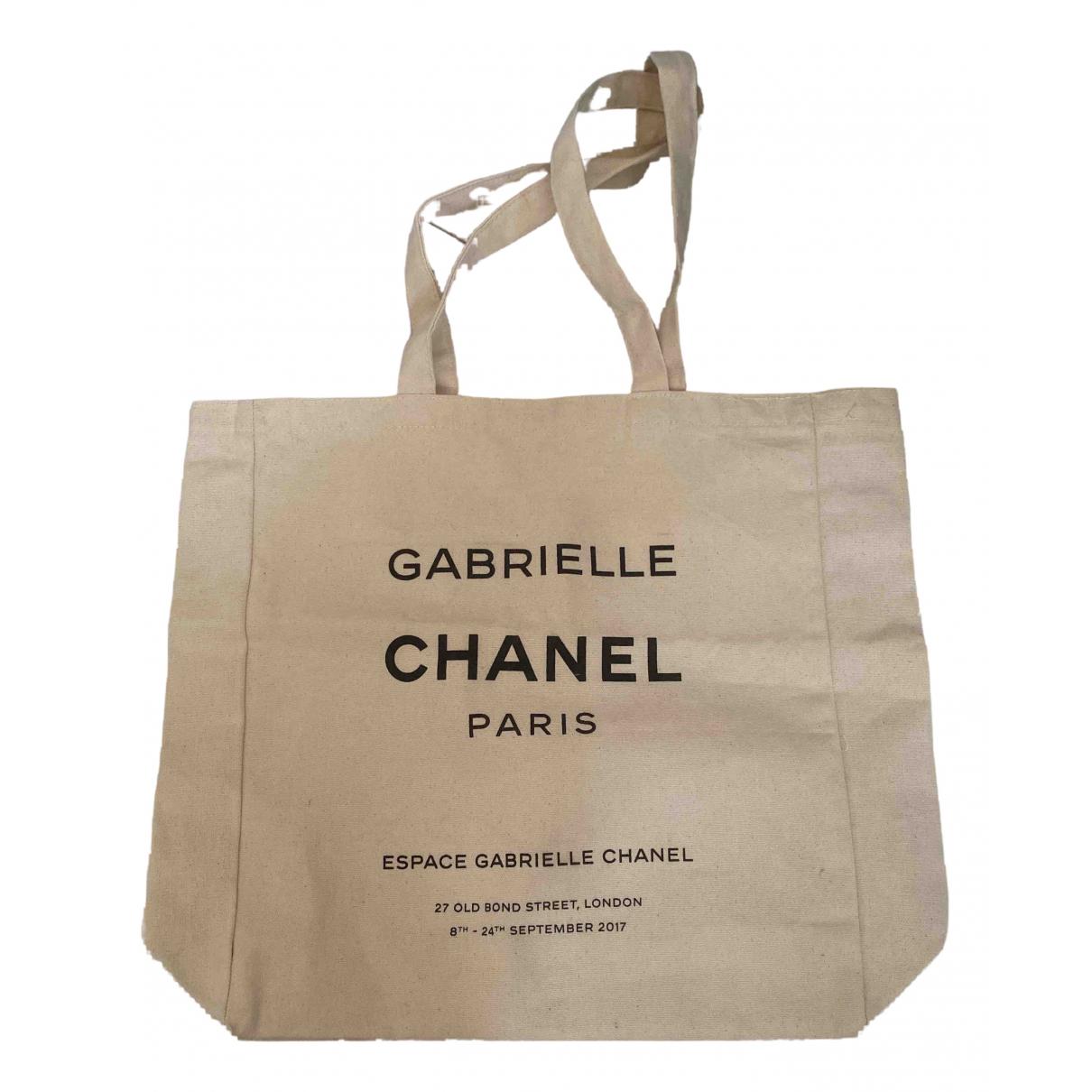 Chanel - Sac de voyage   pour femme en toile - beige