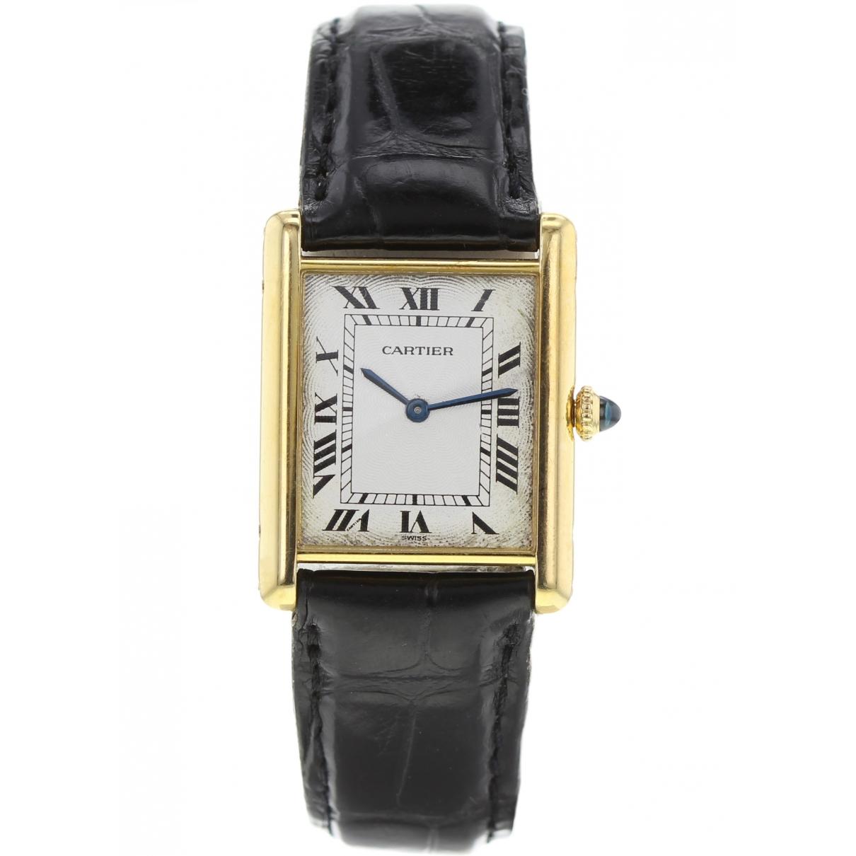 Cartier Tank Française White Yellow gold watch for Women \N