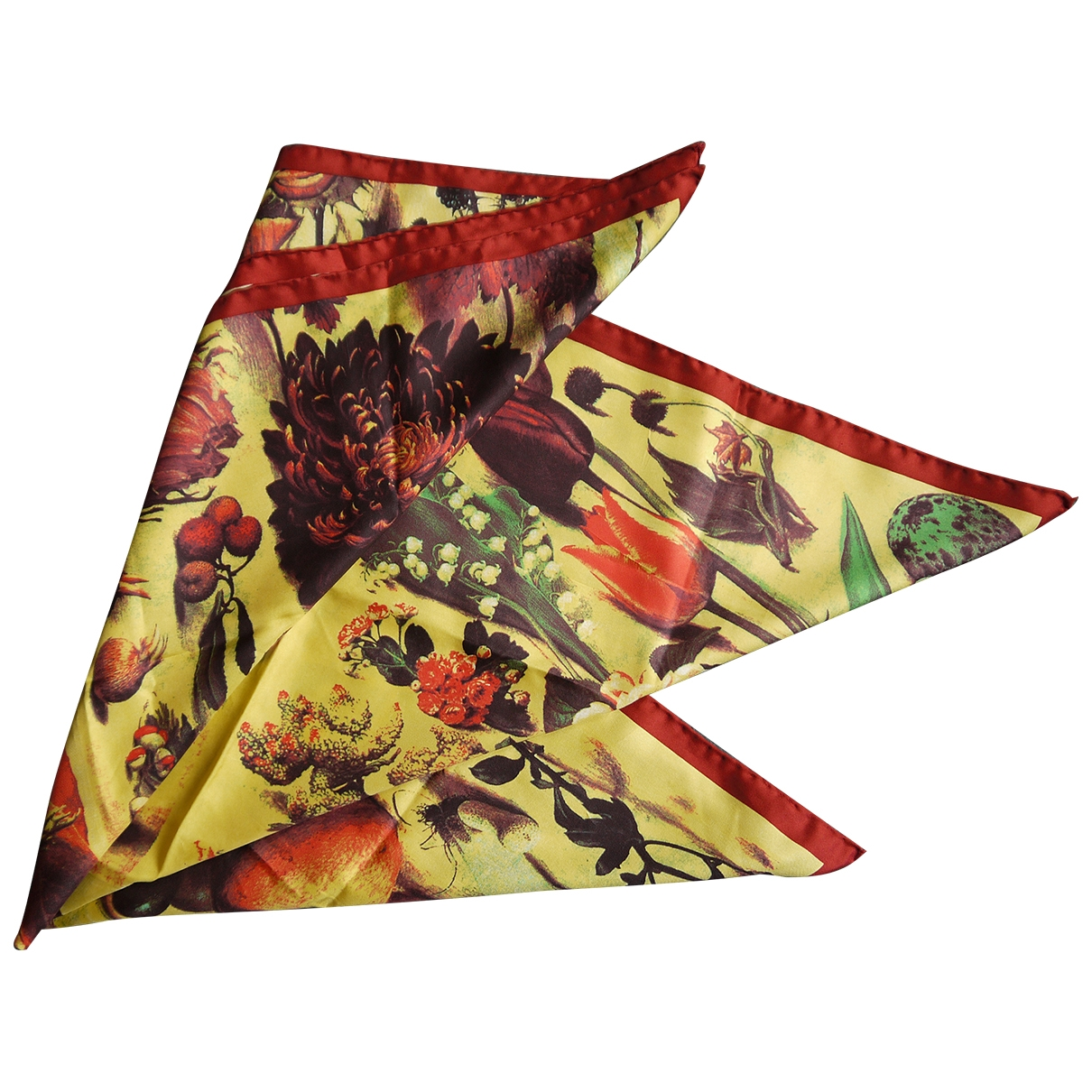 Dolce & Gabbana \N Yellow Silk Silk handkerchief for Women \N