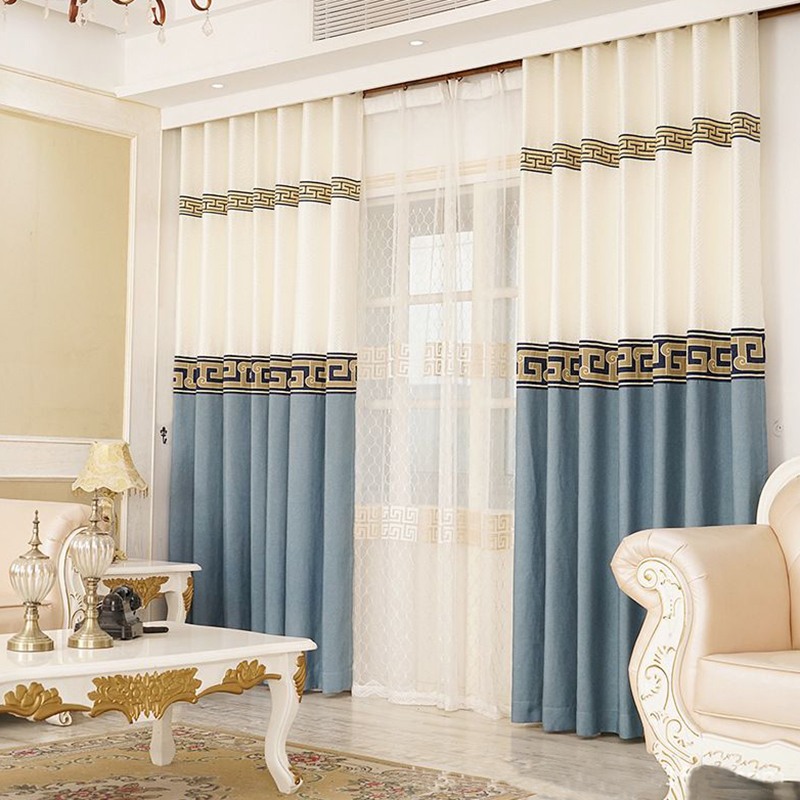 Modern Simple Blackout 2 Panels Grommet Curtains for Living Room