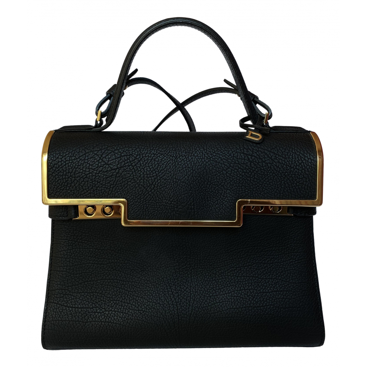 Delvaux Tempête Black Leather handbag for Women \N