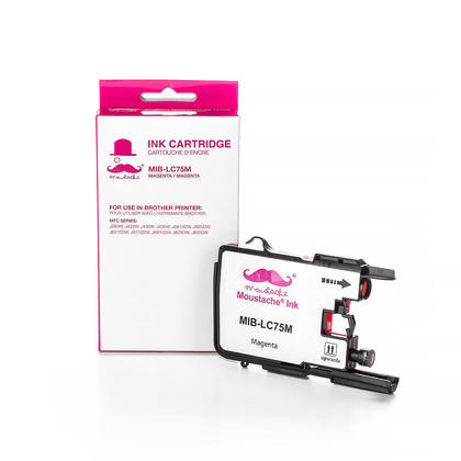 Compatible Brother MFC-J6910DW Magenta Ink Cartridge by Moustache, High Yield