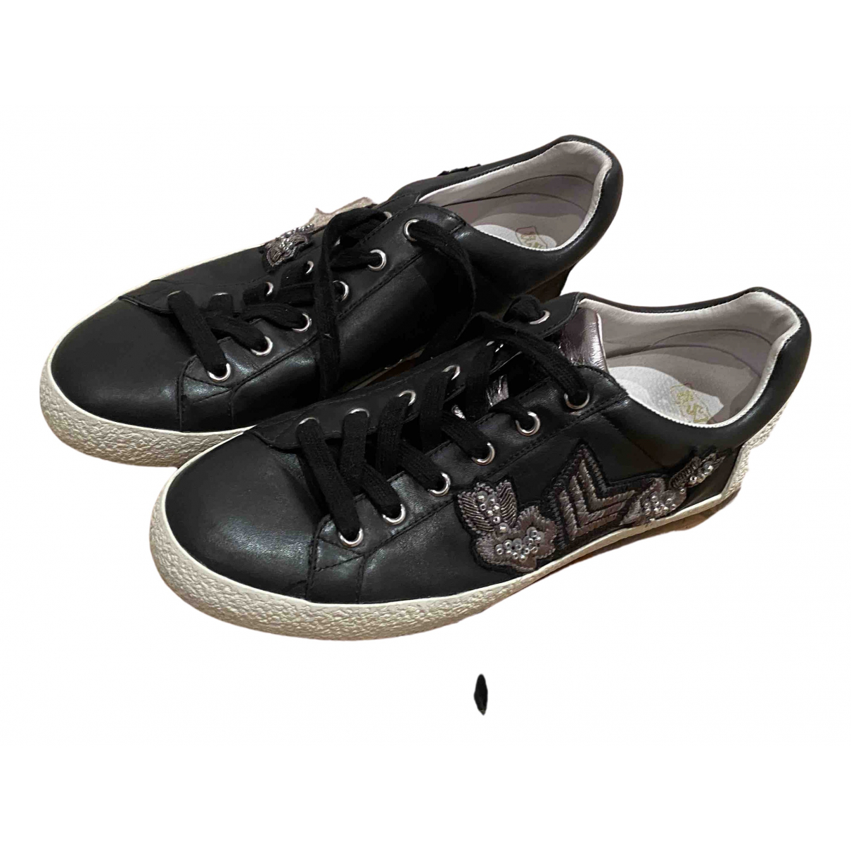 Ash N Black Leather Trainers for Men 42 EU