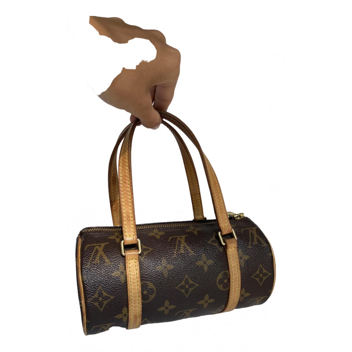 Louis Vuitton - Sac a main Papillon pour femme en toile - marron