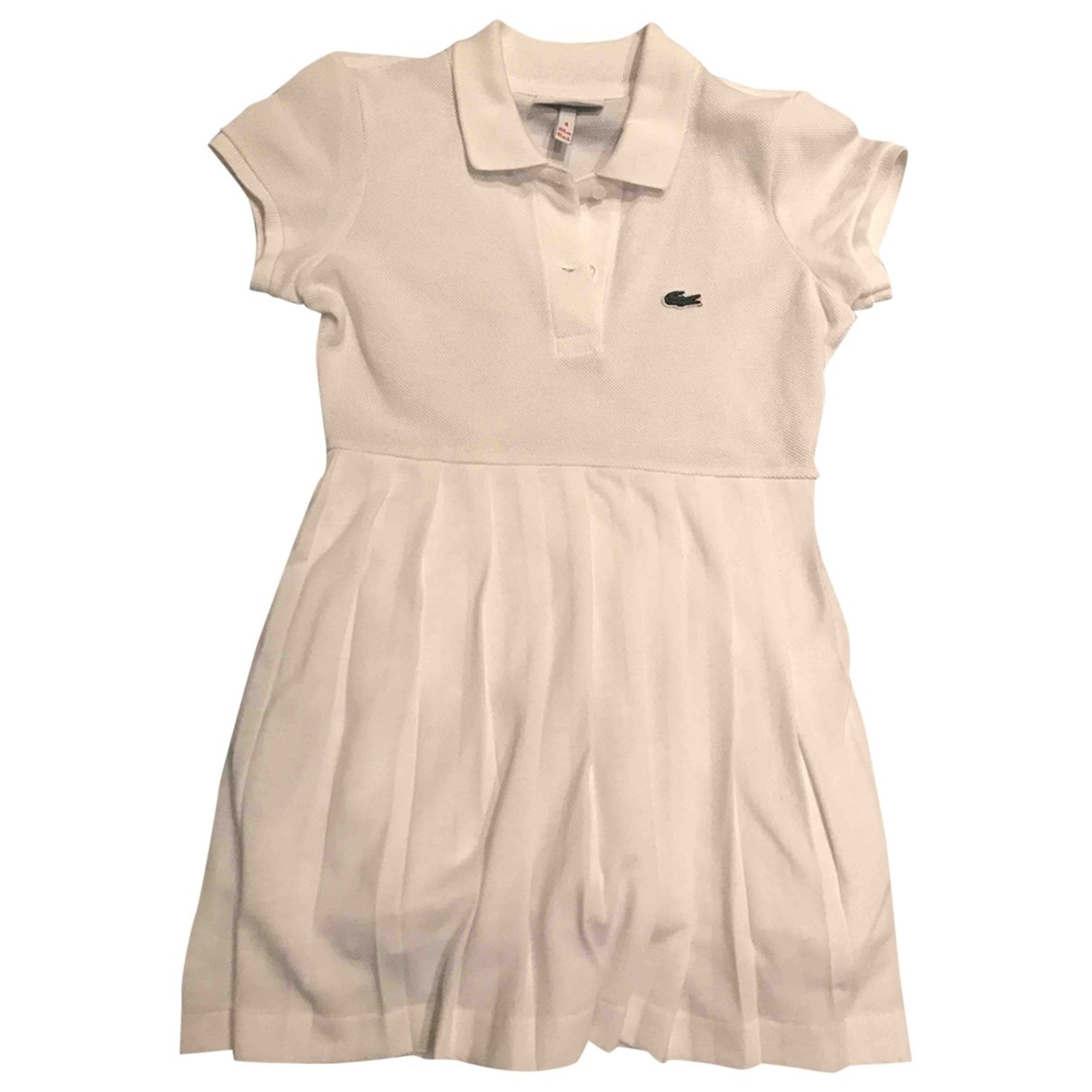 Lacoste \N White Cotton dress for Kids 4 years - up to 102cm FR