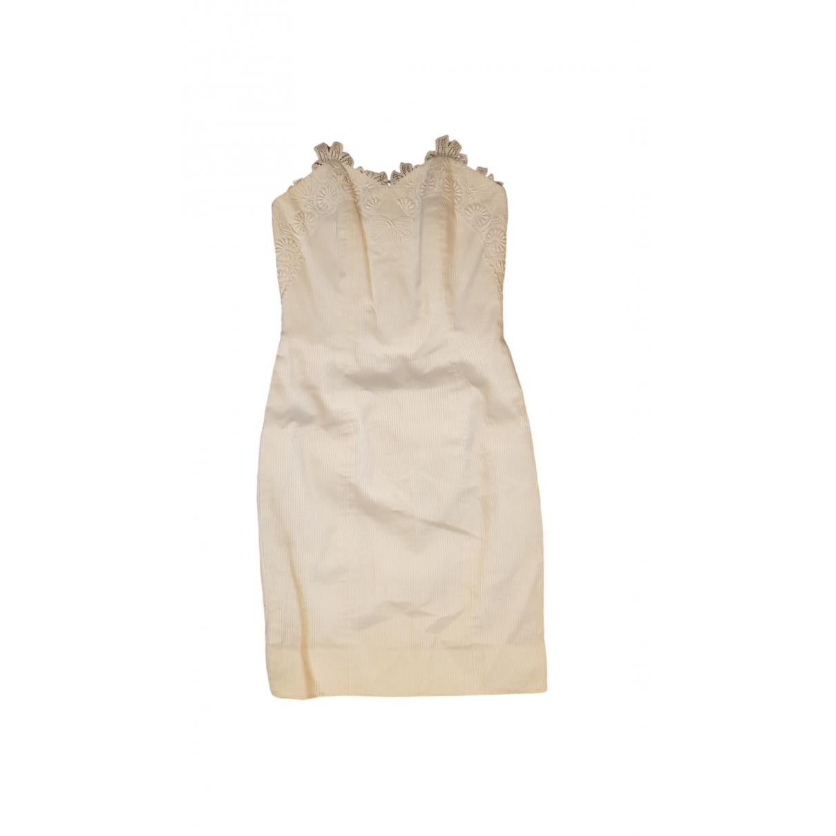 Lanvin \N Kleid in  Weiss Baumwolle