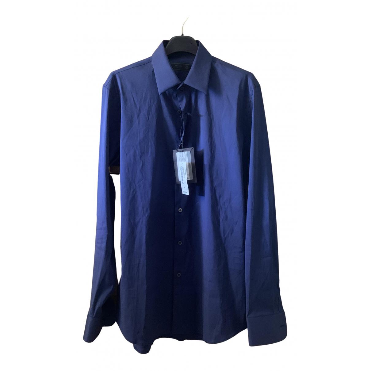 Prada \N Blue Cotton Shirts for Men 39 EU (tour de cou / collar)