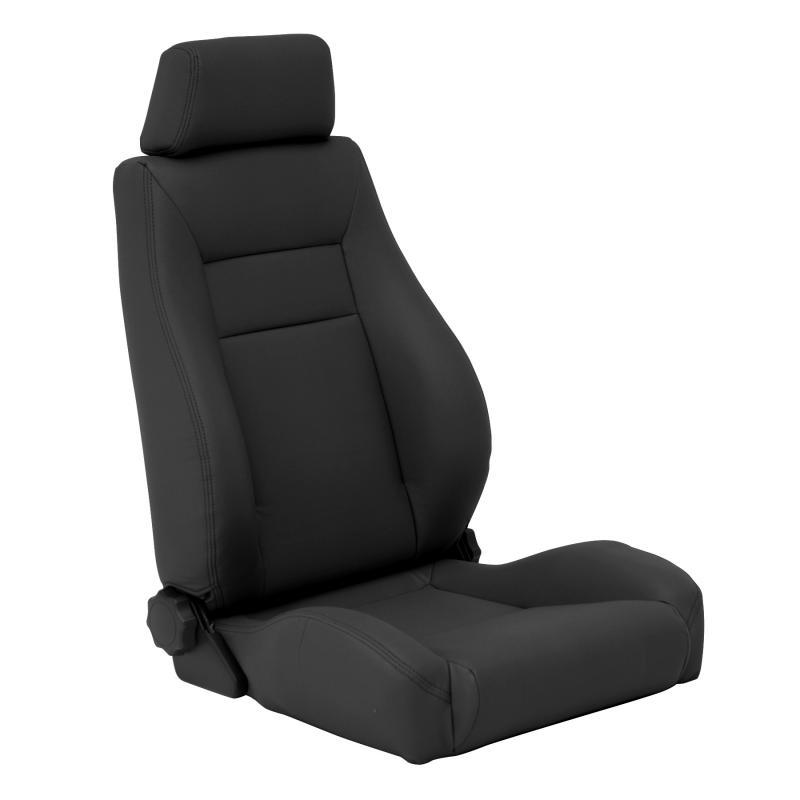 Front Seat Contour Sport Bucket W/ Recliner 76-16 Wrangler CJ/YJ/TJ/LJ/JK Black Denim Smittybilt