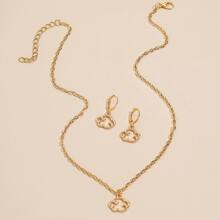 3pcs Gold Cloud Decor Jewelry Set