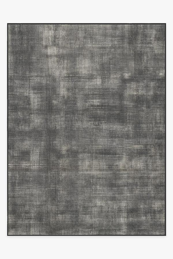 Washable Rug Cover & Pad | Sudaria Solid Greyscale Rug | Stain-Resistant | Ruggable | 9x12