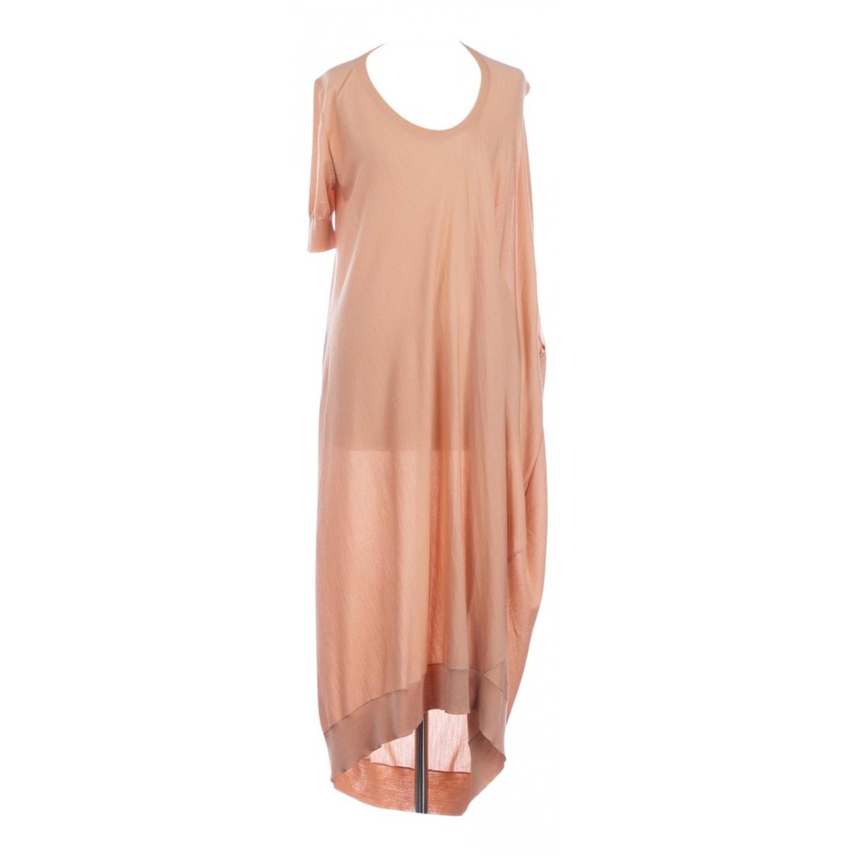 Alexander Mcqueen \N Kleid in  Rosa Wolle