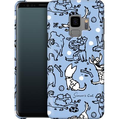 Samsung Galaxy S9 Smartphone Huelle - Happy Dogs Pattern von Simons Cat