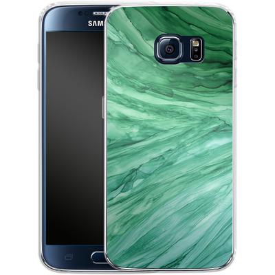 Samsung Galaxy S6 Silikon Handyhuelle - Emerald von Becky Starsmore