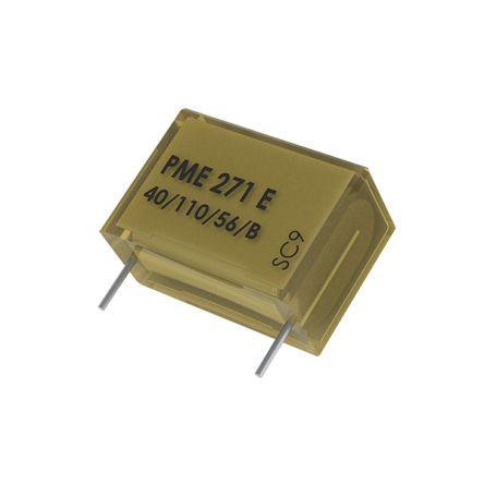 KEMET 100nF Polypropylene Capacitor PP 300 V ac, 1000 V dc ±20% Tolerance Through Hole PME271Y_300 Series (100)